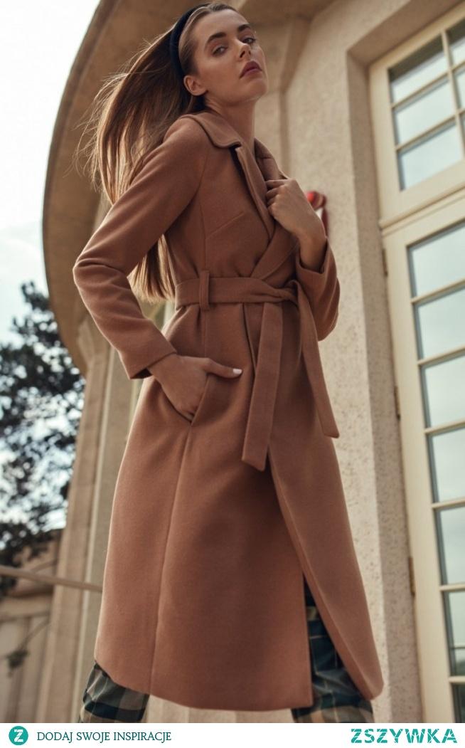 Wiązany płaszcz Nife cpl02