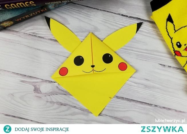 Tutorial ukazujący sposób wykonania zakładki z motywem Pikachu :)