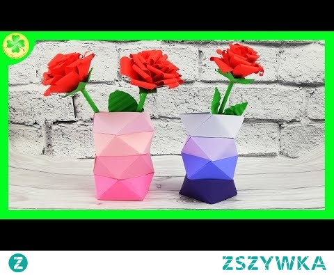 Jak zrobić Papierowy Wazon Ombre (łatwy sposób) | DIY tutorial