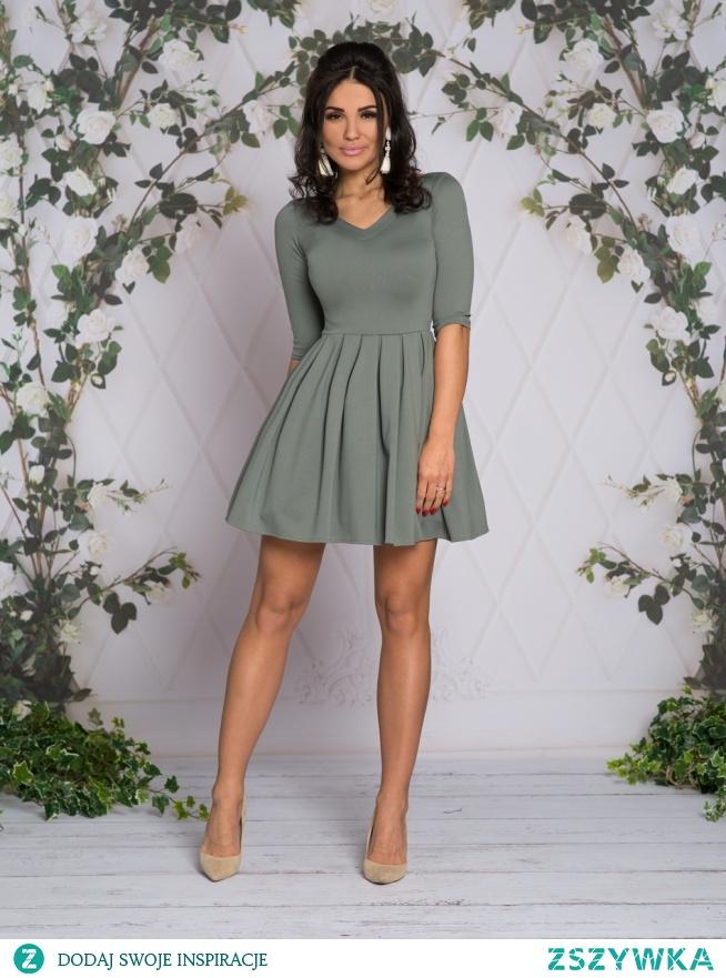 Kliknij w zdjecie by przejsc do produktu sukienkowo.com LISA - sukienka z dekoltem khaki