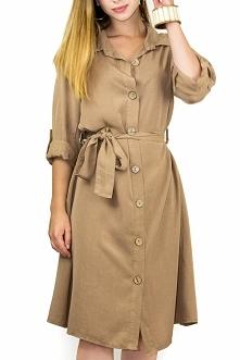 Sukienka Farla w karmelowym odcieniu