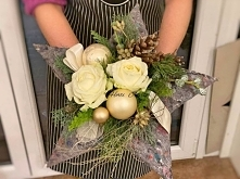 Christmas bouquet made of ornate in the shape of a star. This is an original ...