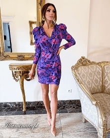 Fioletowa, krótka sukienka ...