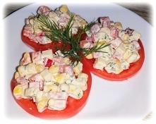 Sałatka na pomidorach - szy...