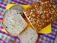 Prosty chleb z płatkami ows...