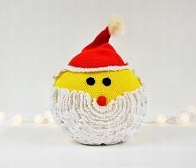 Poduszka przytulanka, dekoracyjna Św. Mikołaj  Poduszka wykonana ręcznie, zaw...