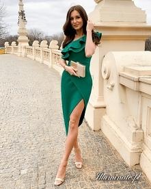 Asymetryszna sukienka w kol...