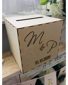 Drewaniane pudełko na koper...