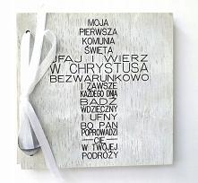 Drewniana kartka z okazji I...