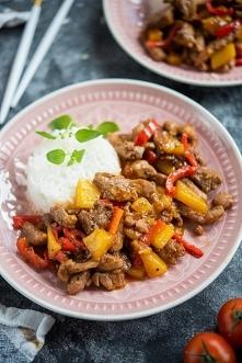 Wieprzowina po chińsku z mango