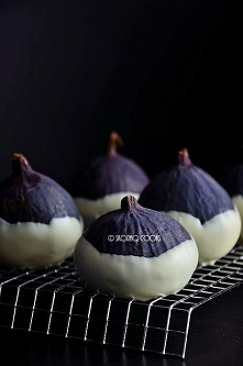 Figi w białej czekoladzie