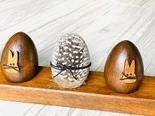 Handmade. Drewniane pisanki...