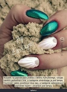 Muszelkowe paznokcie :)