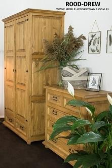 Sypialnia z litego drewna s...