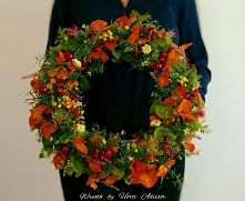 Creating decorative wreaths...