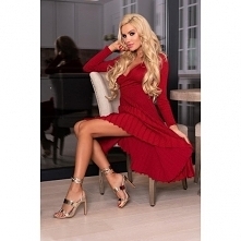 Modna sukienka damska Wine ...