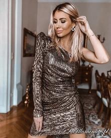 Złota cekinowa sukienka dos...