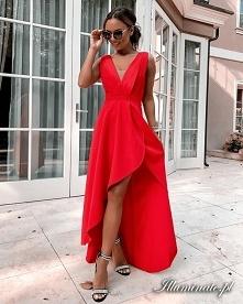Asymetryczna sukienka na we...