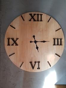 recznie robiony zegar:)