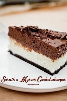 sernik czekoladowy z białym...