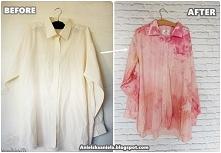 barwienie koszuli diy