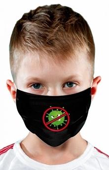 Maseczka dziecięca ochronna koronawirus stop