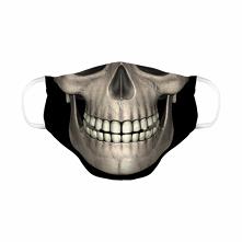 Maseczka czaszka dwuwarstwowa wielorazowa