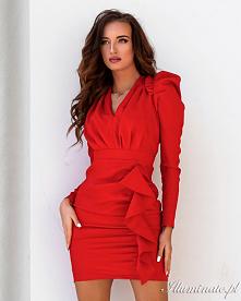Czerwona sukienka z nowej k...