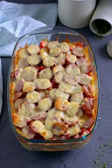Zapiekanka gospodarska - z ziemniakami i kiełbasą