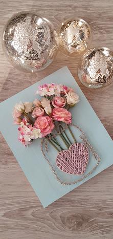 #stringart #flowers #kwiaty #handmade