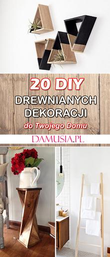 20 DIY Drewnianych Dekoracj...