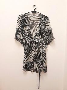 Sukienka tunika w palmy po ...