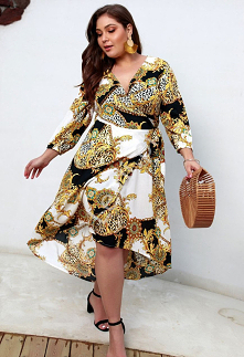 Modna sukienka plus size z ...