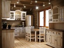 Drewniana kuchnia modułowa ...