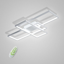 CONTRACTED LED 3-Light Linear Flush Mount Ambient Light Painted Finishes Meta...