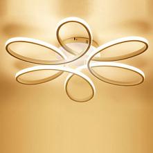 1-Light 58cm LED Flush Mount Lights Metal Silica gel Linear Painted Finishes Modern Contemporary 110-120V / 220-240V