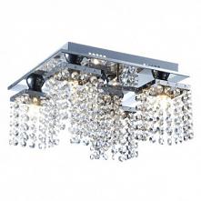 5-Light 30cm Crystal Flush Mount Lights Metal Crystal Electroplated Modern Co...
