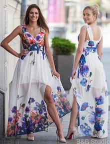 Skoro wiosna, to koniecznie wzory kwiatowe. Lekkie, zwiewne sukienki oraz jas...
