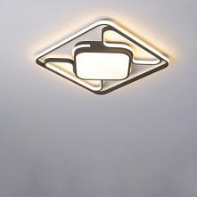 1-Light 42cm LED / New Design Flush Mount Lights Metal Linear Painted Finishe...