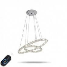 1-Light 60cm Crystal / Adjustable / Dimmable Chandelier Metal Electroplated Chic & Modern 110-120V / 220-240V
