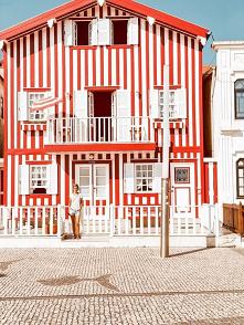 Kolorowe domki w Portugalii...