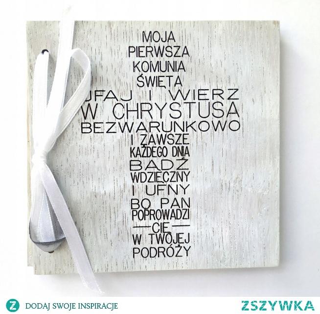 Drewniana kartka z okazji I Komunii Świętej --> do kupienia klik w zdjęcie