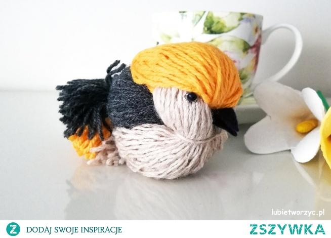 Tutorial ukazujący sposób wykonania ślicznego ptaszka z użyciem wełny :)