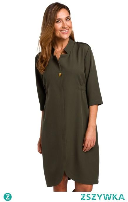 Elegancka sukienka o żakietowym kroju Sukienki.shop