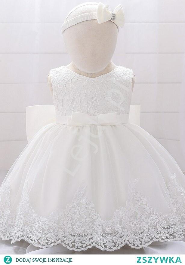 Sukienka dla dziewczynki na chrzciny. Biała sukienka do chrztu. lejdi.pl