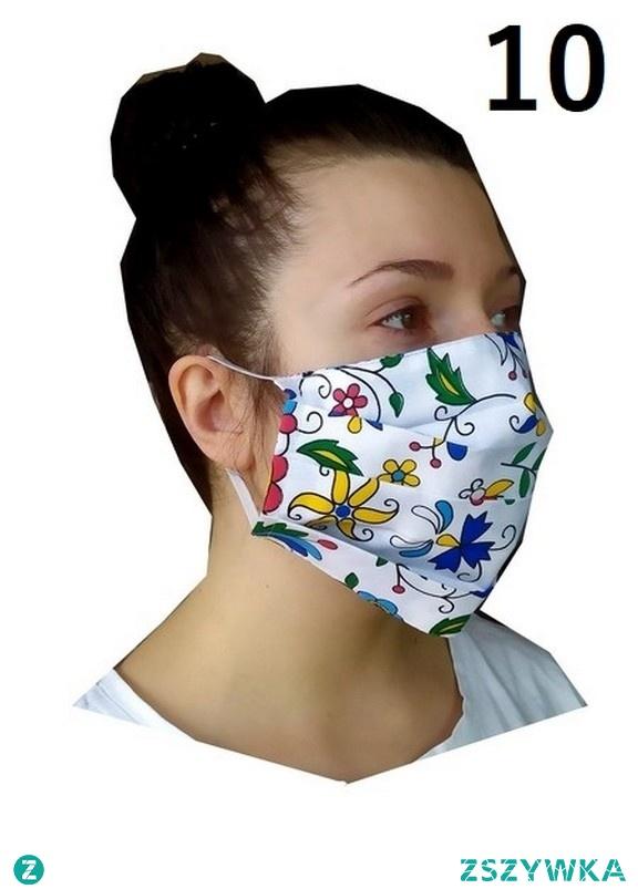 do kupienia na fartuszki24.pl MASKA na usta i nos typu Streetwear  BAWEŁNA DWUWARSTWOWA  REGULOWANA GUMKAMI  SPECYFIKACJA:  Maska typu Streetwear Maska wyprodukowana w POLSCE Materiał : dwie warstwy bawełny Maski można zastosować do wszelkich rozmiarów twarzy. Rozmiar uniwersalny wielkość można regulować gumkami lewa i prawa strona maseczki wzorzysta wielokrotnego użytku można prać