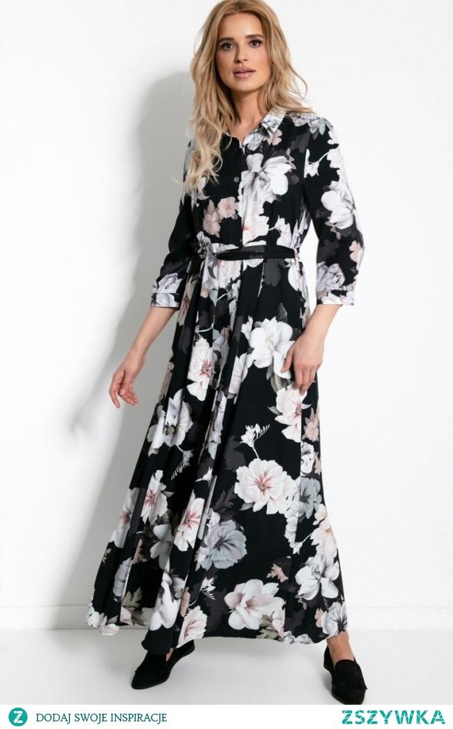 Fobya Sukienka maxi w kwiaty F896
