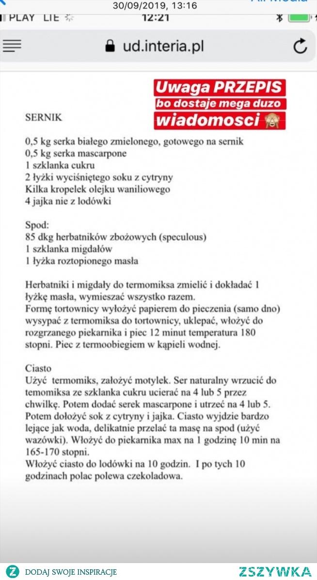 1) Sernik (okrągła blacha)