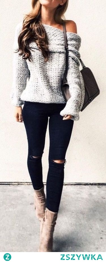 cute oversized sweater outfits