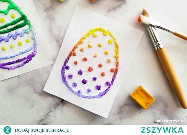 Tutorial ukazujący sposób wykonania ślicznych malowanych pisanek z użyciem soli i farb ;)